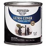 Rust-Oleum 1976730 Painter's Touch Latex Paint, Half Pint, Flat Black