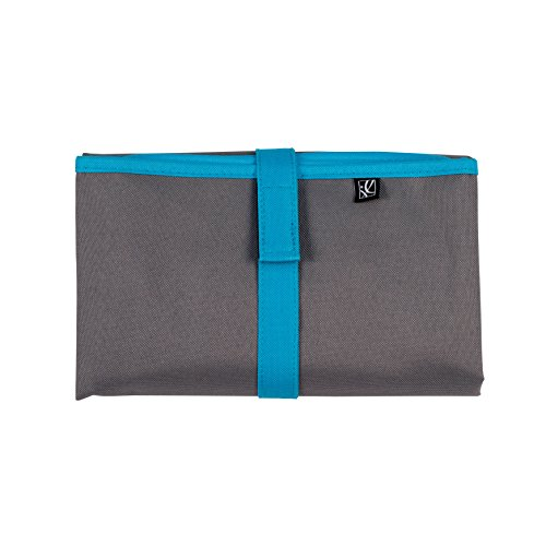 J.L. Childress Full Body Portable Baby Changing Pad, Fully Padded for Baby's Comfort, Waterproof, Opens to 19' x 30', Grey/Teal