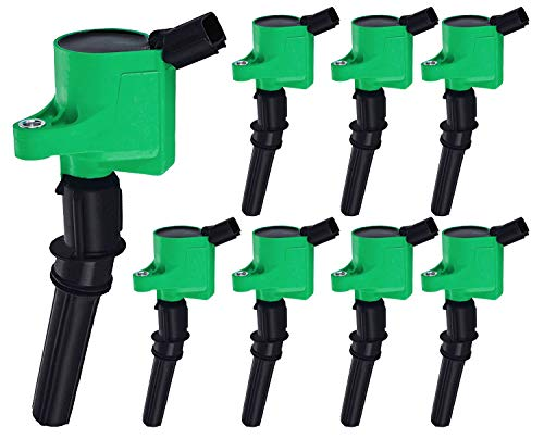 ENA Professional Ignition Coil compatible with Ford F150 F250 E150 E350 Lincoln Navigator Town Car Crown Victoria Expedition Mustang GT Mercury Grand Marquis 4.6L 5.4L 6.8L V8 DG508 FD503 C1417 C1454