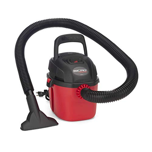 Shop-Vac 2021000 Micro Wet/Dry Vac Portable Compact Micro Vacuum with Collapsible Handle Wall Bracket & Multifunction Accessories Uses Type A Filter Bag & Type MM Foam Sleeve
