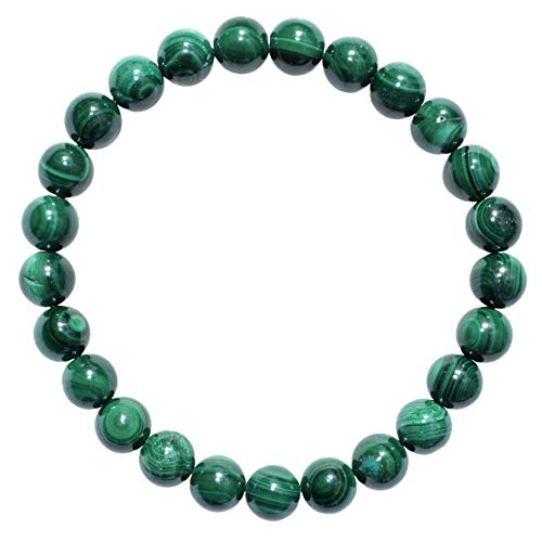 Zenergy Gems Charged Natural Malachite Crystal 8mm Bead...