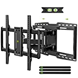 USX MOUNT Full Motion TV Wall Mount Bracket fits for 32-90' TVs Holds up to 150lbs with Sliding Design for TV Centering, Swivel, Tilt, Max VESA 600x400mm, Arms for 16', 18', 24' Studs