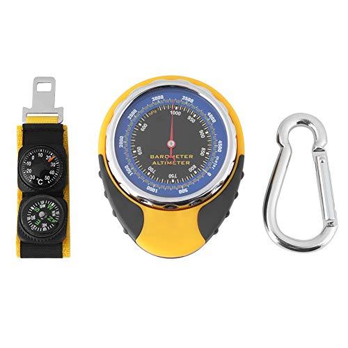 MLMLH Barómetro - 4 en 1 Digital Mini Compass Altímetro Termómetro Barómetro para Acampar al Aire Libre