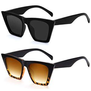 Cat Eye Sunglasses For Women – Vintage Square Mirrored Sunglasses for Women Fashion Classic UV400 Sunglasses