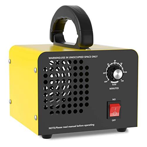Generador de Ozono Hogar 10,000mg/H, QUARED Profesional Máquina de Ozono Para Coche Desinfectador de Ozono Purificador Ozono de Aire con Temporizador, Eliminaciónn de Olor y Desinfección