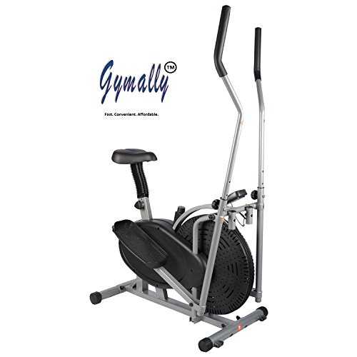 Gymally Metal 2 In 1 Orbitrek Sitting Pedaling/Standing Rowing, Elliptical Trainer with Seat