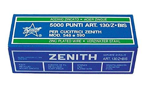 Punti metallici in ACCIAIO ZINGATO ZENITH 130/Z BIS confezione da 5000 punti per cucitrici Zenith...