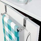 Bonton Towel BAR Hanger/Kitchen Hanger Hook Drawer Storage Adjustable Over Cabinet Stainless Steel Towel Bar/Towel Holder/Over Cabinet Towel bar (9-inch) Cupboard Door Hanging Rack