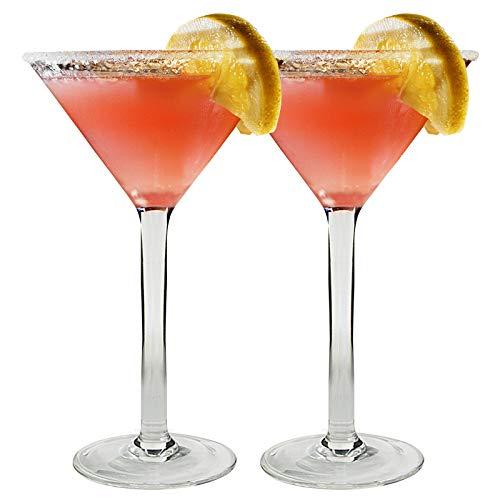I-WILL Bicchieri da Martini 180ml Coppa Cocktail di Plastica Riutilizzabile Trasparente Classico Bicchieri da Vino Margarita Calice per Cocktail per Centrotavola Feste Bar Casa, Set di 2