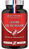 LEVURE DE RIZ ROUGE dosée en Monacoline K - 570 mg - Enrichie en Coenzyme Q10...