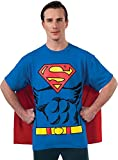 DC Comics Superman Costume T-Shirt With Cape, Blue, Medium