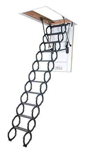 5. FAKRO LST Insulated Steel Scissor Attic Ladder