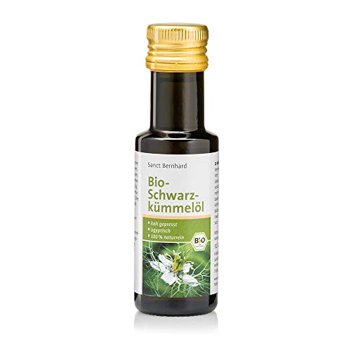 Sanct Bernhard Bio Schwarzkümmelöl 100% naturrein, ägyptisch, kalt gepresst, Inhalt 100 ml