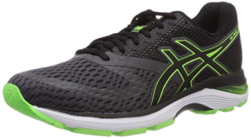 ASICS Men's Gel-Pulse 10 Dark Grey/Green Gecko Running Shoes-5 UK/India (39 EU) (6 US) (1011A007.021)