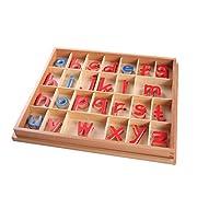 Montessori Holzpuzzles Set Kleinkind Alphabet ABC, Bewegliches Alphabet Für Kinder Rechtschreibung Lernen Zahlen Anerkennung Spielzeug Lernrätsel Für Kinder Kleinkind Jungen Mädchen