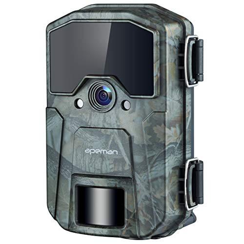 APEMAN Camera da caccia 20MP 1080P fototrappola, rilevamento notturno Videocamera a infrarossi velocità di innesco 0.5s,Time Lapse, Timer, Design impermeabile IP66
