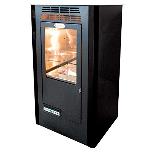 Tecno Air System Ruby Compact Freestanding Bioethanol Black – Stove (Independent, Black, Ceramic, 5 L, LCD, Buttons)