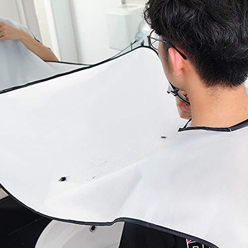 YYLE Maschio Barba Grembiule Man Bagno Nero Barba Bianca Guarnizione Trimmer Gomma Raschiatura Uomini Pulizia Impermeabile Proteggere