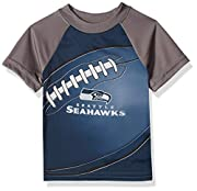 Includes one officially licensed Seattle Seahawks short sleeve Tee shirt Polyester Interlock Seahawks logo with sublimation Country of origin: El Salvador
