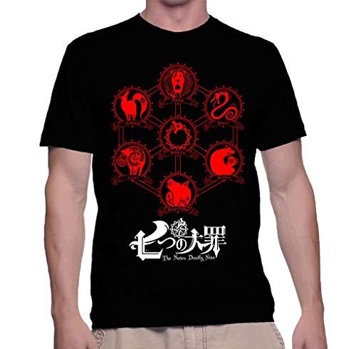 Camiseta camisa anime nanatsu no taizai 7