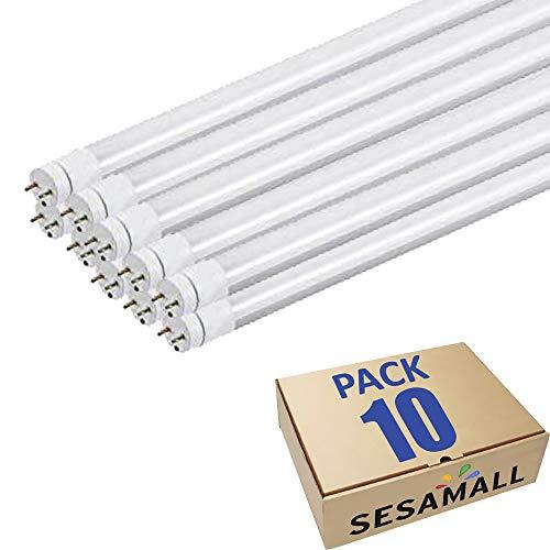 SET 10 Tubo Neon Led 150 cm 30W Attacco T8 Luce Bianco NATURALE 4000-4500 K 3100 Lumen Equivalente 300 Watt Copertura Opaca