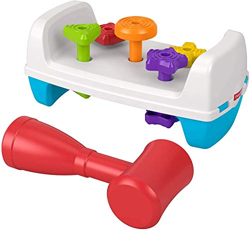 Fisher-Price Tap & Turn Bench, Double-Sided Infant & Toddler Toy