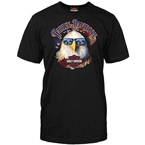 ハーレーダビッドソンメンズTシャツ–Shady Eagle  海外ツアー US サイズ: M カラー: ブラック