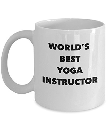 World's Best Yoga Instructor Coffee Mug – Funny Gift for...