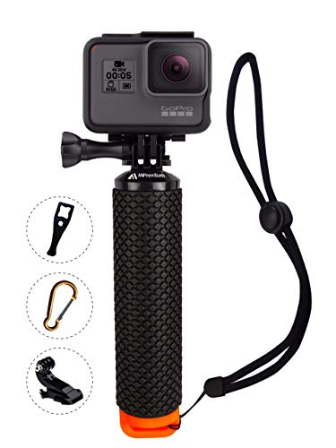 MiPremium impermeabile galleggiante impugnatura compatibile con videocamere GoPro Hero 5 Session Black Silver GoPro Hero 2 3 3 + 4. Handler & Handle Mount kit di accessori e sport acquatici Floaty
