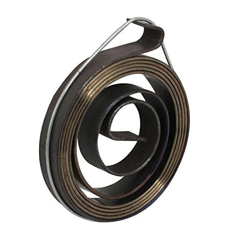 sourcingmap 6 mm larghezza due ganci trapano tubetto alimentazione bobina ritorno gruppo a molla nero