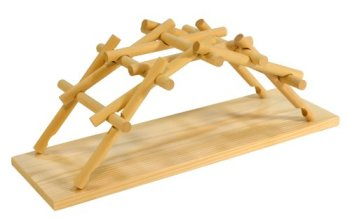 Leonardo da Vinci's wooden science model bridge