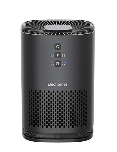 Elechomes EPI081 Air Purifier for Home Allergies and Pets Pollen Dust Smokers, Upgrade H13 True HEPA Filter with 4-Stage Filtration, 23dB Efficient Air Cleaner (99.97%), Odor Eliminators, 100% Ozone Free