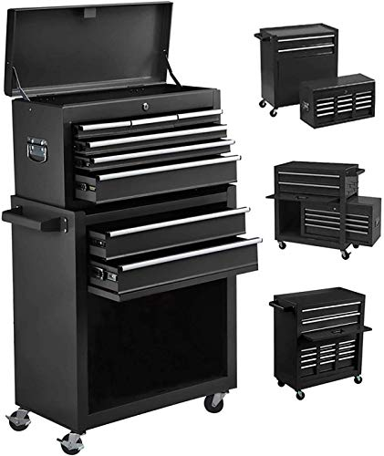 Product Image 1: 8-Drawer Tool Chest Tool Box,High Capacity Rolling Tool Chest Tool Storage Cabinet with 4 Wheels, 2 in 1 Large <a href=