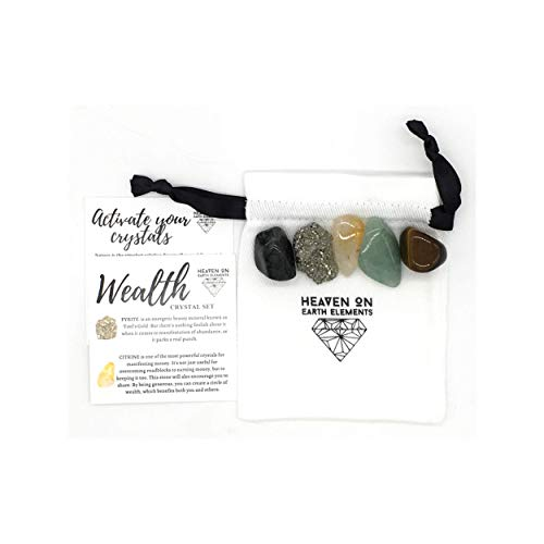 Wealth & Prosperity 5 pc. Crystal Gift Set-Fortune...