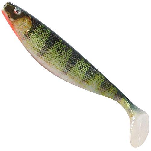 Balzer Shirasu Photo Print Shad 3D - Pesce di gomma per pesca a spinning su luccio e luccioperca, esche in gomma, esche morbide, esche per luccio, gomma, pesce persico., 17cm / 35g