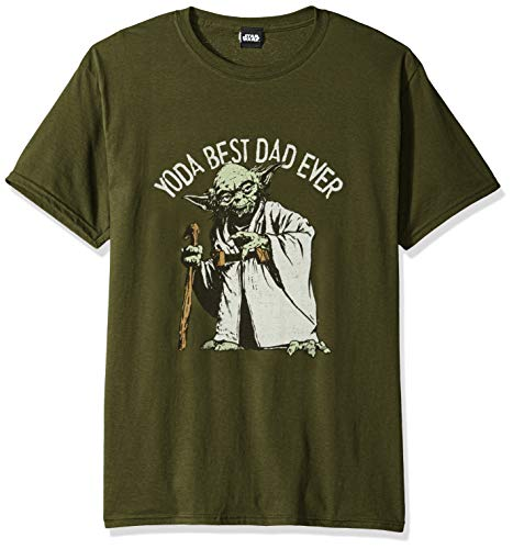 Star Wars Men's Officially Licensed Tees, Green//Green Dad, Large