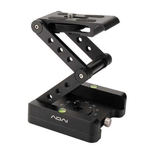 YiLiWit ADAI Z字型 雲台 360°回転 折りたたみ アルミニウム合金 クイックリリース プレートスタンド マウントスピリットレベル Canon Nikon Sony Pentax DSLRカメラ用