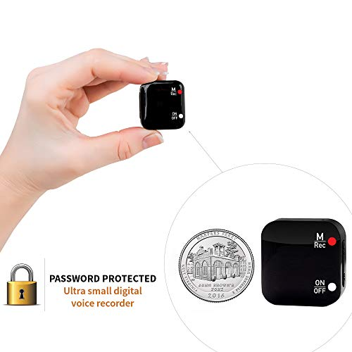 Mini Voice-Activated Recorder - 286 Hours Recordings Capacity - Sound Detection Sensor - More Than 20 Hours Battery Life - Password Protection - 2019 Upgrade