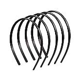 Ealicere - Diademas de plástico para 6 piezas, diademas simples, diademas antideslizantes para ...