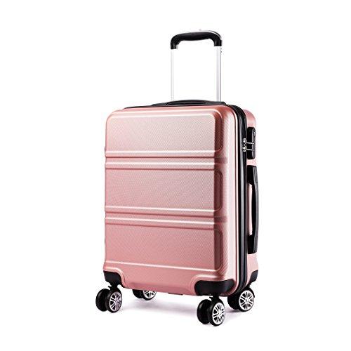 Kono Bagaglio Mano Valigia Materiale ABS Leggero e Resistente con 4 Ruote Rotanti 55 cm, 37L (Nudo)