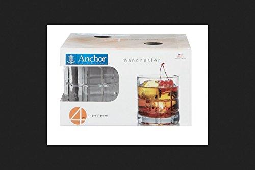 Anchor Hocking Manchester Glassware Set 10.5 Oz Dw Safe Boxed 4 Pack