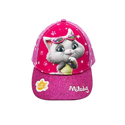 44 Gatti Cappello da Sole con Personaggio in Rilievo Milady