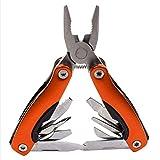 Herramientas Alicates Alicates multiusos al aire libre serrado cuchillo de mandíbula Mano + destornillador + pinzas + cuchillo multiusos del cuchillo de Equipo de supervivencia Herramientas manuales