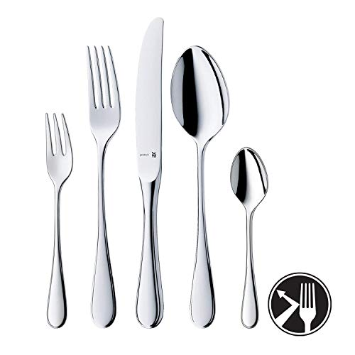 WMF Kent Besteckset 6 Personen, 30 teilig, Monobloc-Messer, Cromargan protect Edelstahl poliert, glänzend, kratzbeständig, spülmaschinengeeignet