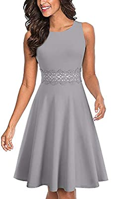 Style: Elegant Cocktail Wedding Guest Dress Features: Crew Neck, Sleeveless, Knee-Length, A zipper at back Low Temperature,Hand wash or gentle machine wash Occasions: Suitable for many occasions like business, party, prom, banquet, cocktail, work and...