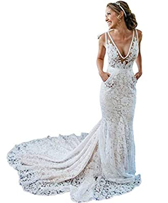 style:mermaid wedding dresses,fabric:lace wedding dress,neck:V neck wedding gowns,year:wedding dress.sexy mermaid lace wedding dresses. it will be better if you give us your exact size bust=__cm(inches),waist=__cm(inches),hip=__cm(inches),shoulder to...