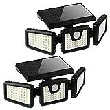 Otdair Solar Security Lights, 3 Head Motion Sensor Lights Adjustable 118LED Flood Lights Outdoor...