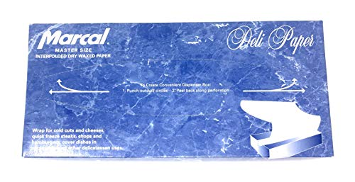 Deli Wrap Interfolded Wax Paper/Dry Waxed Food Liner Master Size 12' x 10', 500 Sheets