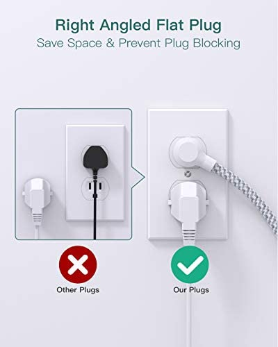 Power Strip with USB, Addtam ETL Certificate Flat Plug Extension Cord with 3 USB Ports, 3 Widely Spaced Outlets, 5 Feet Braided Cord, Desktop Small Travel Power Strip for Cruise Ship, Home, Office 15