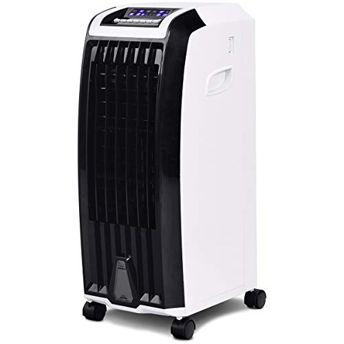 Toolsempire Air Conditioner Cooler with Fan & Humidifier Anion Portable Evaporative Quiet Electric Fan with Remote Control and Ice Crystal Box (28' H)